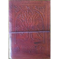 Tree of Life 7 Inch Leather Journal Tree of Life Journeys Reconnect with Yourself - Meditation, Law of Attraction, Spiritual Products