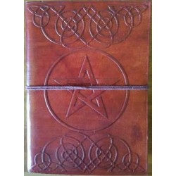 Celtic Heart Pentagram Leather 7 Inch Journal Tree of Life Journeys Reconnect with Yourself - Meditation, Law of Attraction, Spiritual Products