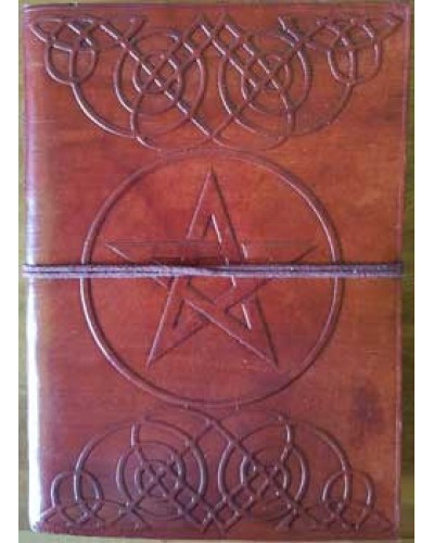 Celtic Heart Pentagram Leather 7 Inch Journal at Tree of Life Journeys, Reconnect with Yourself - Meditation, Law of Attraction, Spiritual Products