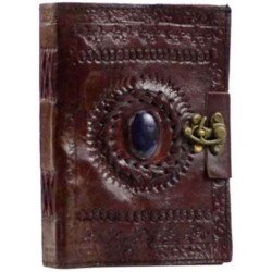 Gods Eye Brown Leather Pocket Journal with Latch Tree of Life Journeys Reconnect with Yourself - Meditation, Law of Attraction, Spiritual Products