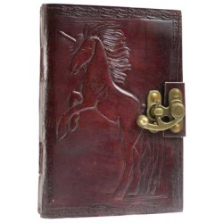 Unicorn Leather 7 Inch Journal with Latch Tree of Life Journeys Reconnect with Yourself - Meditation, Law of Attraction, Spiritual Products