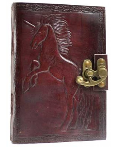Unicorn Leather 7 Inch Journal with Latch at Tree of Life Journeys, Reconnect with Yourself - Meditation, Law of Attraction, Spiritual Products