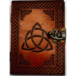 Triquetra 2 Tone Leather 7 Inch Journal with Latch Tree of Life Journeys Reconnect with Yourself - Meditation, Law of Attraction, Spiritual Products