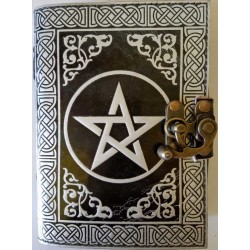 Pentacle Black and Silver Book of Shadows Journal with Latch Tree of Life Journeys Reconnect with Yourself - Meditation, Law of Attraction, Spiritual Products