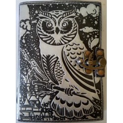 Owl Black and Silver Book of Shadows Journal with Latch Tree of Life Journeys Reconnect with Yourself - Meditation, Law of Attraction, Spiritual Products