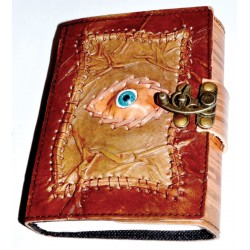 All Knowing Eye 7 Inch Leather Journal with Latch