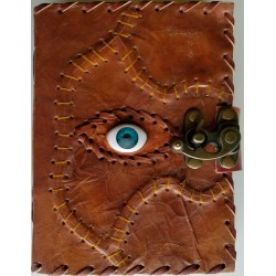 All Knowing Eye Stitched Leather Journal with Latch Tree of Life Journeys Reconnect with Yourself - Meditation, Law of Attraction, Spiritual Products
