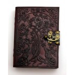 Wolf Tree Leather 7 Inch Journal with Latch at Tree of Life Journeys, Reconnect with Yourself - Meditation, Law of Attraction, Spiritual Products