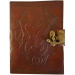 Double Dragon Leather Journal with Latch at Tree of Life Journeys, Reconnect with Yourself - Meditation, Law of Attraction, Spiritual Products