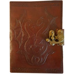 Double Dragon Leather Journal with Latch Tree of Life Journeys Reconnect with Yourself - Meditation, Law of Attraction, Spiritual Products
