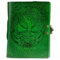 Green Tree of Life River of Knowledge Leather Journal Tree of Life Journeys Reconnect with Yourself - Meditation, Law of Attraction, Spiritual Products