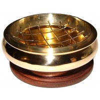 Brass Screen Top Incense Burner