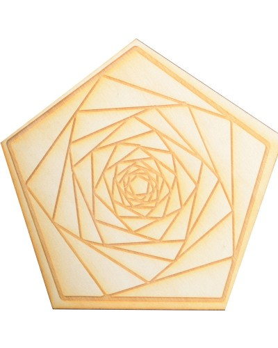 Fractal Spiral Wood Crystal Grid in 3 Sizes at Tree of Life Journeys, Reconnect with Yourself - Meditation, Law of Attraction, Spiritual Products