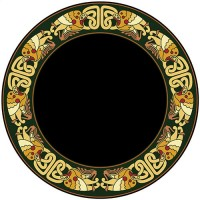 Celtic Birds Acrylic Scrying Mirror