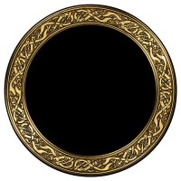 Celtic Snakes Acrylic Scrying Mirror