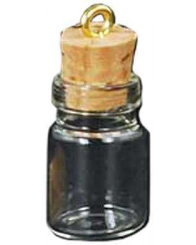 Glass Jar Oil Bottle Vial Necklace at Tree of Life Journeys, Reconnect with Yourself - Meditation, Law of Attraction, Spiritual Products