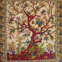 Tree of Life Single Tapestry Tree of Life Journeys Reconnect with Yourself - Meditation, Law of Attraction, Spiritual Products