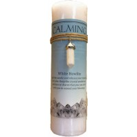 Calming Crystal Energy Candle with Whie Howlite Pendant