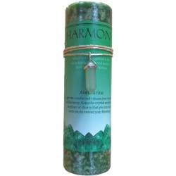 Harmony Crystal Energy Candle with Aventurine Pendant Tree of Life Journeys Reconnect with Yourself - Meditation, Law of Attraction, Spiritual Products