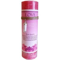 Love Crystal Energy Candle with Rose Quartz Pendant