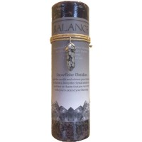 Balance Crystal Energy Candle with Snowflake Obsidian Pendant