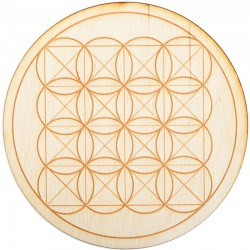 Square Flower of Life Crystal Grid in 3 Sizes Tree of Life Journeys Reconnect with Yourself - Meditation, Law of Attraction, Spiritual Products