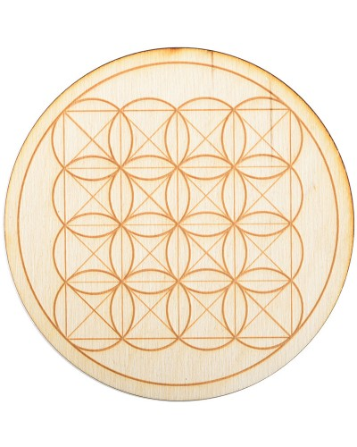 Square Flower of Life Crystal Grid in 3 Sizes at Tree of Life Journeys, Reconnect with Yourself - Meditation, Law of Attraction, Spiritual Products