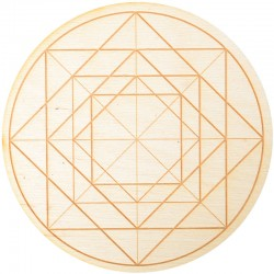 Geometric Symbol Crystal Grid in 3 Sizes Tree of Life Journeys Reconnect with Yourself - Meditation, Law of Attraction, Spiritual Products