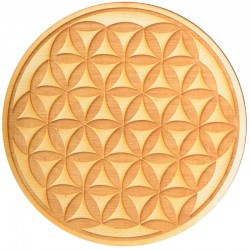 Flower of Life Crystal Grid in 3 Sizes Tree of Life Journeys Reconnect with Yourself - Meditation, Law of Attraction, Spiritual Products