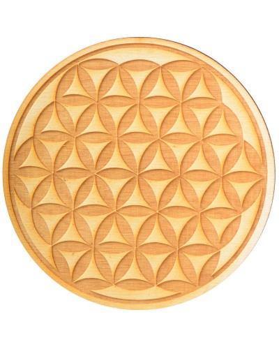 Flower of Life Crystal Grid in 3 Sizes at Tree of Life Journeys, Reconnect with Yourself - Meditation, Law of Attraction, Spiritual Products
