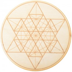 Geometric Star Crystal Grid in 3 Sizes Tree of Life Journeys Reconnect with Yourself - Meditation, Law of Attraction, Spiritual Products