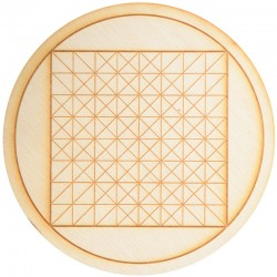 Geometric Square Crystal Grid in 3 Sizes Tree of Life Journeys Reconnect with Yourself - Meditation, Law of Attraction, Spiritual Products