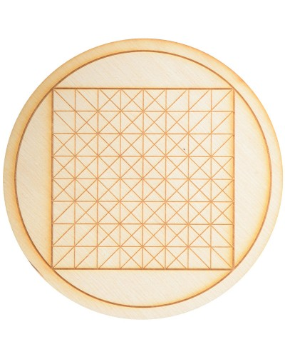 Geometric Square Crystal Grid in 3 Sizes at Tree of Life Journeys, Reconnect with Yourself - Meditation, Law of Attraction, Spiritual Products