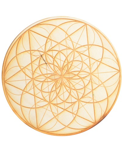 Seed of Life Crystal Grid in 3 Sizes at Tree of Life Journeys, Reconnect with Yourself - Meditation, Law of Attraction, Spiritual Products