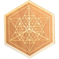 Mekaba Wood Crystal Grid in 3 Sizes Tree of Life Journeys Reconnect with Yourself - Meditation, Law of Attraction, Spiritual Products