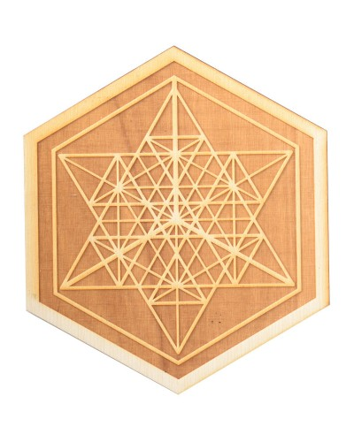Mekaba Wood Crystal Grid in 3 Sizes at Tree of Life Journeys, Reconnect with Yourself - Meditation, Law of Attraction, Spiritual Products