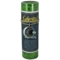 Celestial Venus Rising Spell Candle with Amulet Pendant