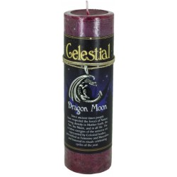 Dragon Moon Celestial Spell Candle with Amulet Pendant Tree of Life Journeys Reconnect with Yourself - Meditation, Law of Attraction, Spiritual Products