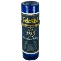 Celestial Crescents Rising Spell Candle with Amulet Pendant