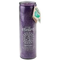 Crown Chakra Glass Jar Pillar Candle