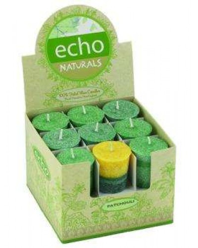 Echo Natural Unscented Votive Candles at Tree of Life Journeys, Reconnect with Yourself - Meditation, Law of Attraction, Spiritual Products
