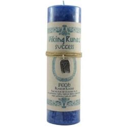 Feoh Success Viking Rune Amulet Candle