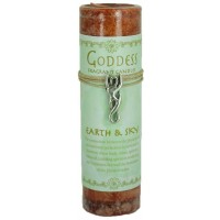 Goddess Earth and Sky Spell Candle with Amulet Pendant