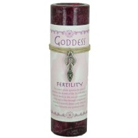 Goddess Fertility Spell Candle with Amulet Pendant