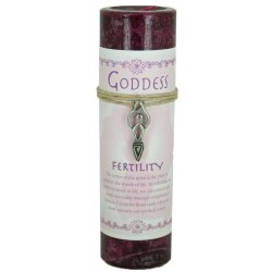 Goddess Fertility Spell Candle with Amulet Pendant Tree of Life Journeys Reconnect with Yourself - Meditation, Law of Attraction, Spiritual Products