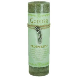 Goddess Prosperity Spell Candle with Amulet Pendant Tree of Life Journeys Reconnect with Yourself - Meditation, Law of Attraction, Spiritual Products