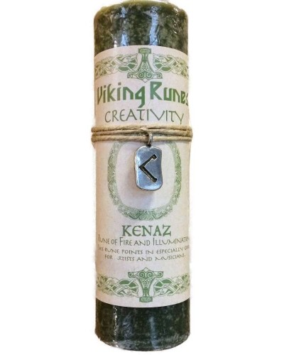 Kenaz Viking Rune Amulet Candle for Creativity at Tree of Life Journeys, Reconnect with Yourself - Meditation, Law of Attraction, Spiritual Products