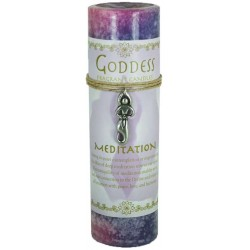 Goddess Meditation Spell Candle with Amulet Pendant Tree of Life Journeys Reconnect with Yourself - Meditation, Law of Attraction, Spiritual Products