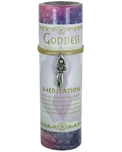 Goddess Meditation Spell Candle with Amulet Pendant at Tree of Life Journeys, Reconnect with Yourself - Meditation, Law of Attraction, Spiritual Products