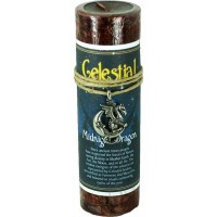 Midnight Dragon Celestial Spell Candle with Amulet Pendant